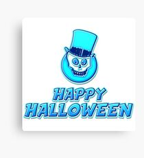 Happy Halloween Sticker Canvas Print