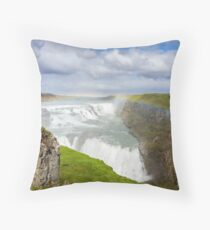 Gullfoss, Iceland Throw Pillow