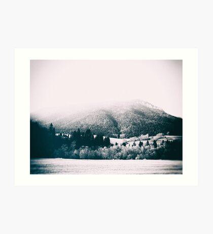 mountains #blackandwhite #photography Art Print