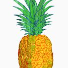 Tropical Pineapple Collage by Maria Burns