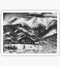 mountains Tatry #blackandwhite #photography Sticker