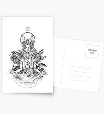 Inktober 2017 Day 3: The High Priestess Postcards