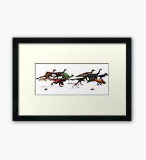 Cretaceous Parade Framed Print
