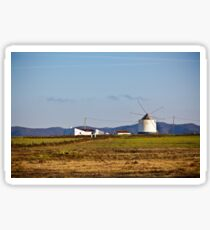 Portugal Rural Landscape with Old Windmill Sticker