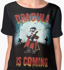 Dracula is Coming  Chiffon Top