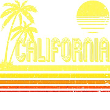 Vintage California (distressed look) by robotface