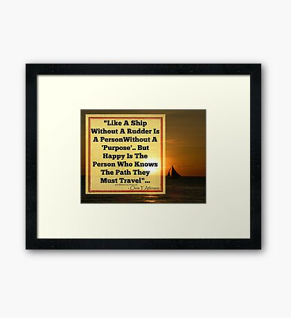 KNOW YOUR PATH Framed Print