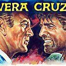 Vera Cruz - Burt Lancaster, Gary Cooper, western movie poster by Star Portraits Soutsos Art