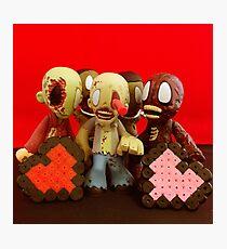 Zombie Valentines Photographic Print