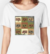 Cool Camping - Retro Caravans Women's Relaxed Fit T-Shirt
