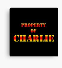 Property Of CHARLIE Canvas Print