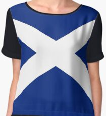 Scottish Independence Flag Scotland T-Shirt Women's Chiffon Top