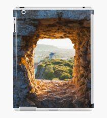 Old Windmill through Window in Fortress Wall iPad Case/Skin