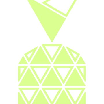 Geometric Future Pineapple by totemfruit