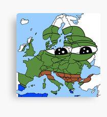 Pepe der Frosch - Europa Meme Leinwanddruck