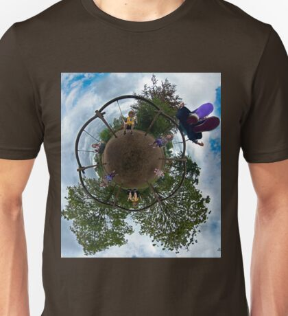 Siblings on a 6 Seater Swing T-Shirt
