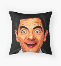 Mr Bean Throw Pillow
