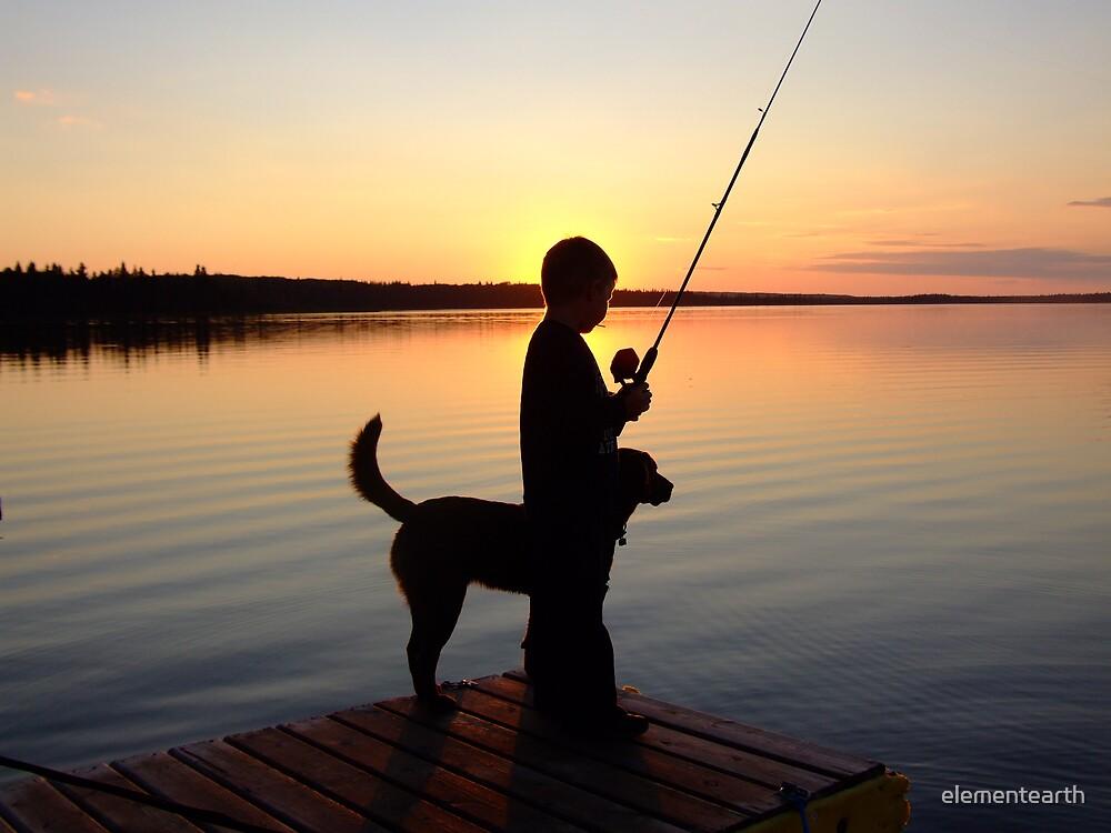 sunset fishin by elementearth