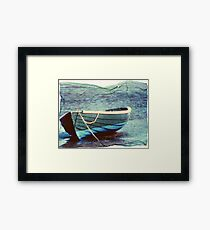 this boat has lift off Framed Print