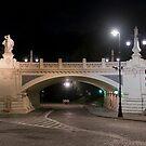 Viaduct at night: wiadukt Stanisława Markiewicza, Warsaw by GrahamCSmith
