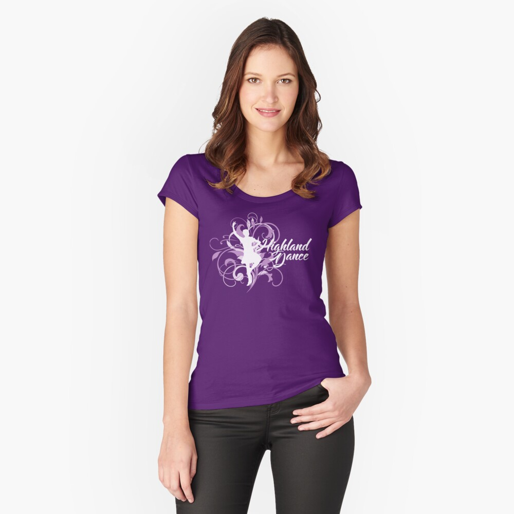Highland Dance Design Women's Fitted Scoop T-Shirt Front