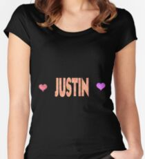 Justin Women's Fitted Scoop T-Shirt