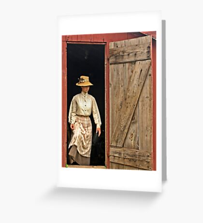 The Farmer's Daughter Greeting Card