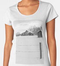 Shacks Winter Scene Women's Premium T-Shirt
