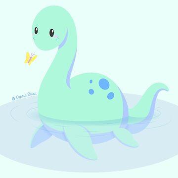 Kawaii fantasy animals - Nessie by SilveryDreams