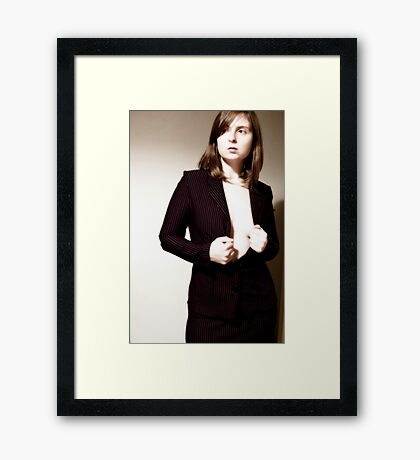 suits you, sir! Framed Print