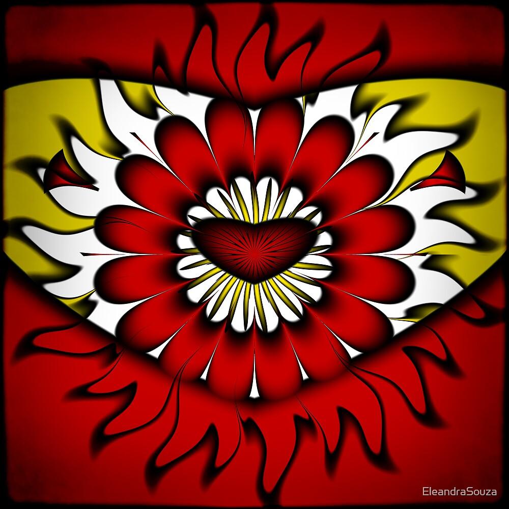 Flower, Heart and Sun by EleandraSouza
