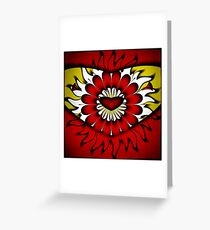 Flower, Heart and Sun Greeting Card