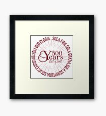 500 YEARS Reformation Celebration 5 Solas Framed Print