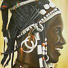 Fulani woman with Maria Teresa Dollars by cathy savels