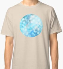Turquoise Snowstorm - Abstract Watercolor Dots Classic T-Shirt
