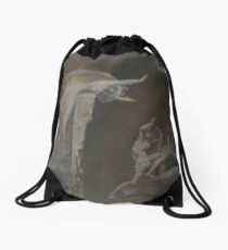 Ariadne Watching the Struggle of Theseus with the Minotaur by Henry Fuseli Drawstring Bag