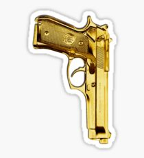 golden gun Sticker