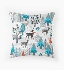 Snow Much Courage Throw Pillow
