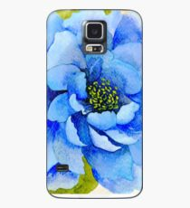 Watercolor Blue Peony Case/Skin for Samsung Galaxy