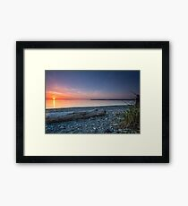 Birch bay sunset Framed Print