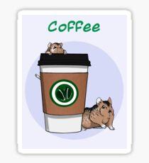 Dwarf Hamster Coffee Sticker