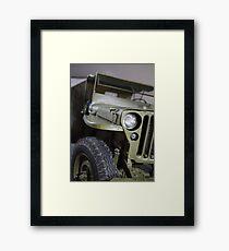 military jeep Framed Print