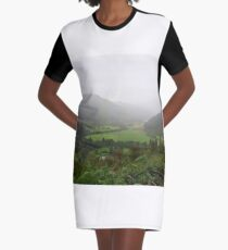 Scottish Valley Graphic T-Shirt Dress