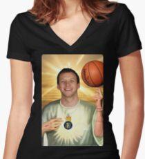 Joe Ingles, Jazz Jesus Women's Fitted V-Neck T-Shirt