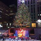 Christmas Tree, Skating Rink, Rockefeller Center, New York City by lenspiro
