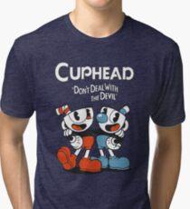 Cuphead Game Tri-blend T-Shirt