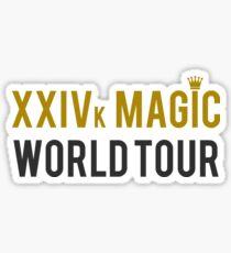 24k Magic Tour Design Sticker