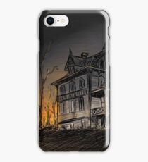 Halloween mansion iPhone Case/Skin