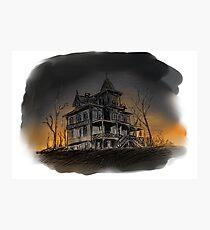 Halloween mansion Photographic Print