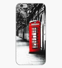 Vinilo o funda para iPhone London Calling - London Red Telephone Booth - Classic British Phone Box